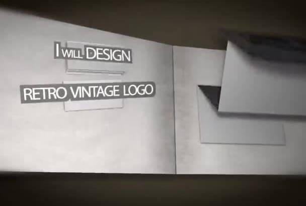design old style Retro Vintage logo
