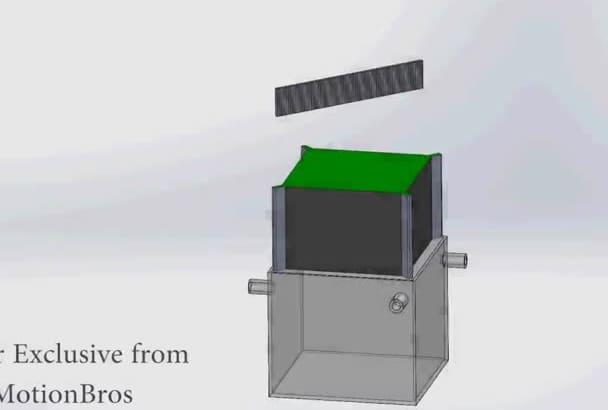 model your design idea using Solidworks