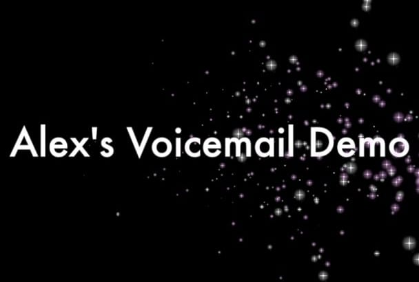 record a voicemail greeting in a neutral American accent