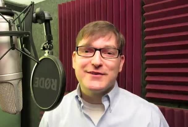 record a 100 word professional voice over