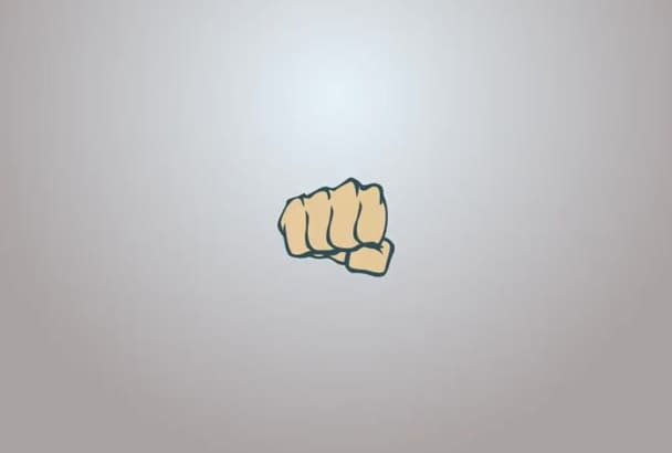 reveal your logo With a Fist Smash in Full HD