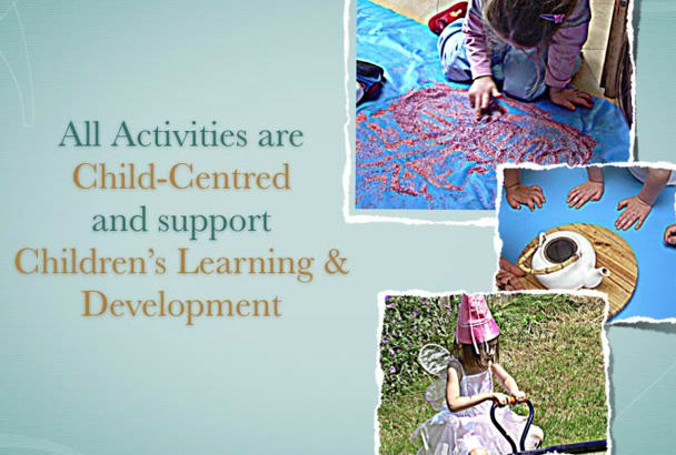 create Activity for Early Years and School Education