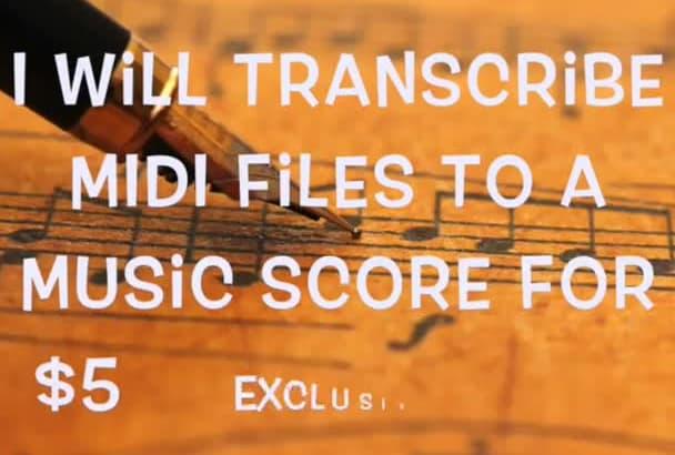 transcribe MIDI files to a Music score