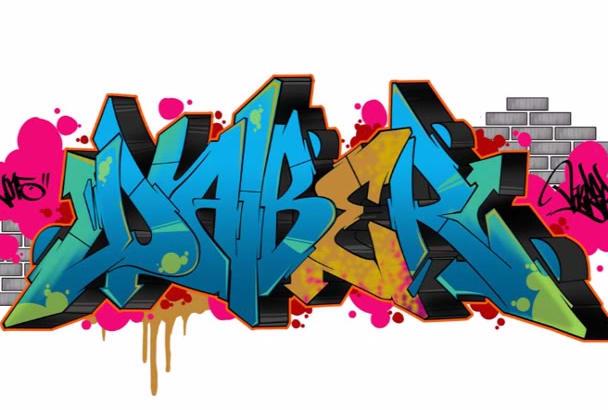 create a professional graffiti