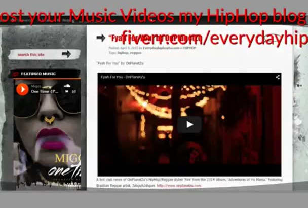 post your Music Videos to my HipHop Site