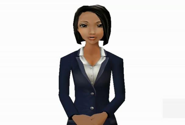 create a instructional avatar animation