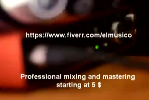 mix your song with professional gear