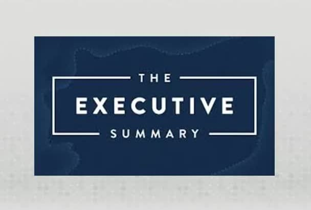 write an exclusive Executive Summary
