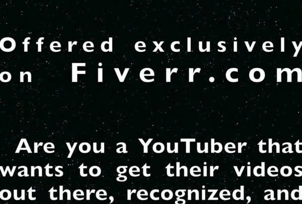 create a YouTube intro or outro