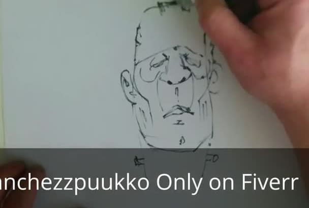 draw a ink caricature