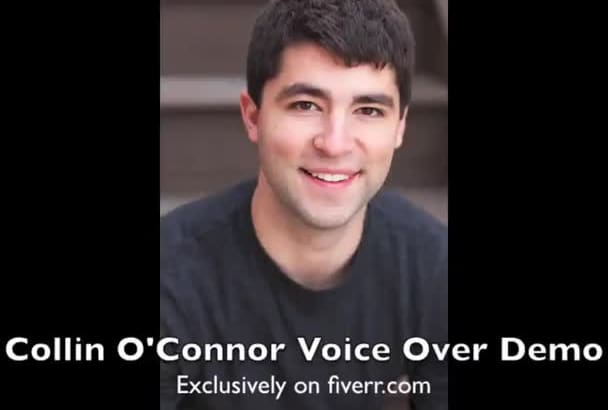 record a QUALITY American voiceover for you