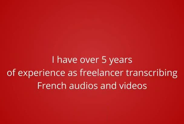 transcribe Ten minutes of French audio or video