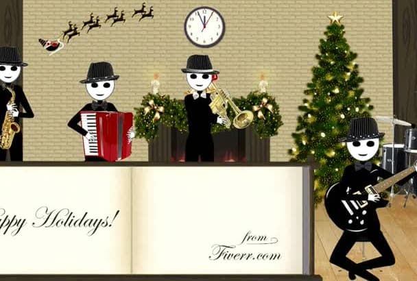 deliver your Christmas message in this holiday video