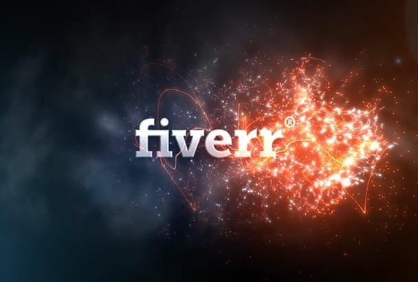 make a cool fire reveal logo intro