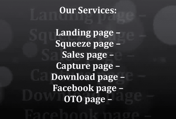 design high converting Landing page Squeeze Pages
