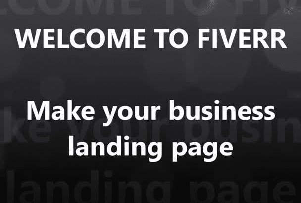 make your business landing page