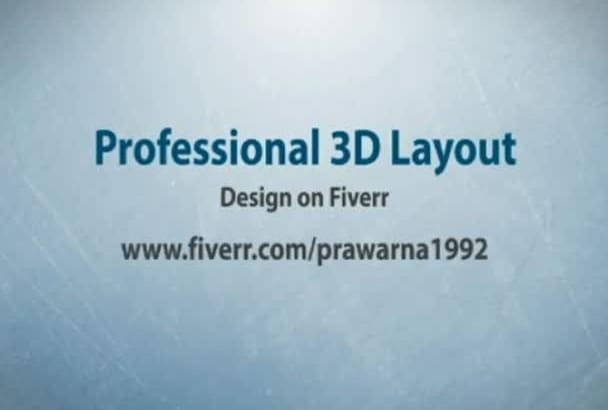 convert any 2d design in to unique and professional 3d design plus bonus