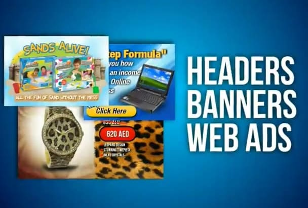 design web banners, ads, headers, niche ads