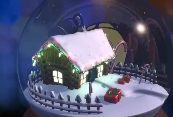 create this Beautiful Christmas Animation intro