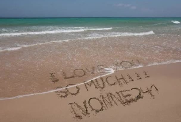write Your Message On The Beach Paradise