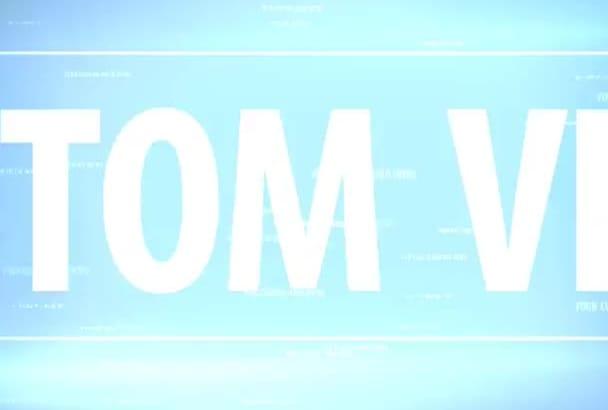 create a customized video intro