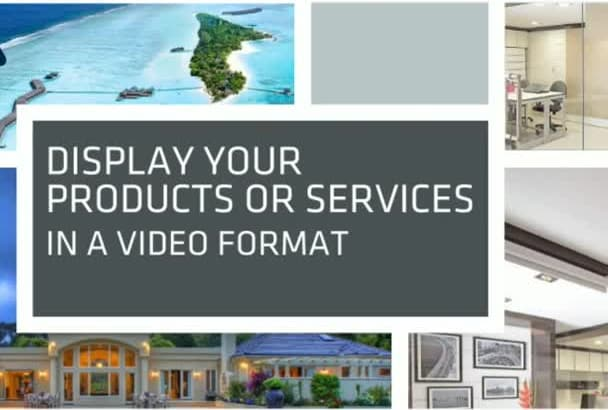 create a professional marketing slideshow video of your p and s