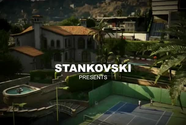 make GTA style video intro with your logo and text