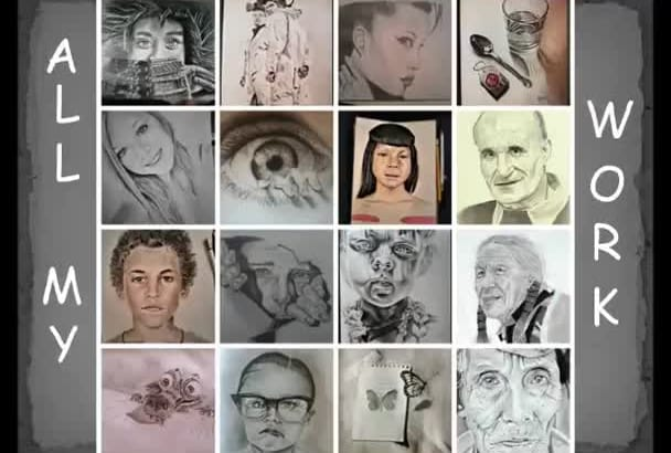 make a pencil portrait or anything you want