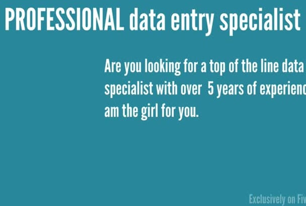 be your PROFESSIONAL data entry expert for 3 hours