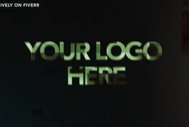 create a glitch video intro with logo