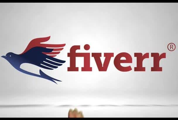 create an elegant hand logo animation