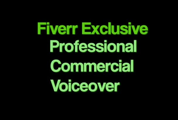 amazing Professional Male commercial voiceover
