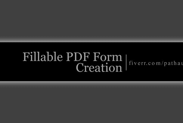 make interactive Fillable PDF Form