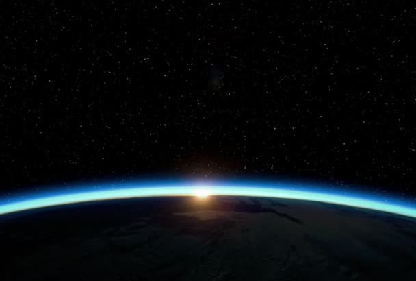 create a cool earth space SUNRISE for your logo