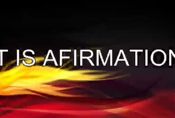 give affirmation and create it into mp3