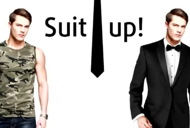 change you into a formal suit