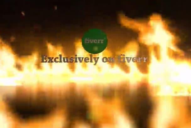 create 2 AMAZING fire logo video hd