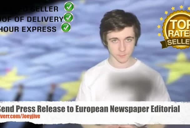 send Press Article up to 550 European Newspapers