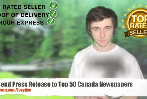 send Press Release to Top 50 Canada Newspapers