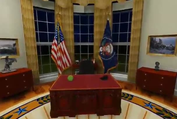 put your logo on the US president desk