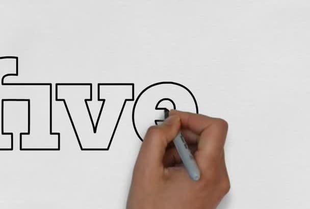 speed draw WHITEBOARD logo animation
