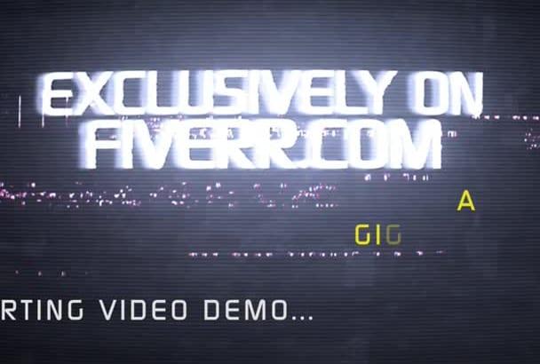 design AmazE Digital Glitch Youtube Video HD 1080P