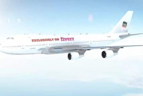 create this Professional Airplane Intro for your Business