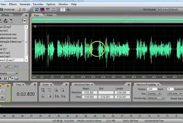 mix your audio files together