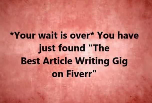 write An SEO Optimized Article