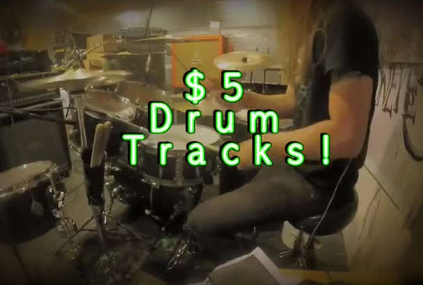 record a real drum track to your song in less than 48 hours