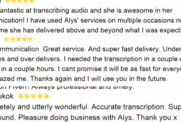 transcribe 10 min within 5 days BUDGET priced option