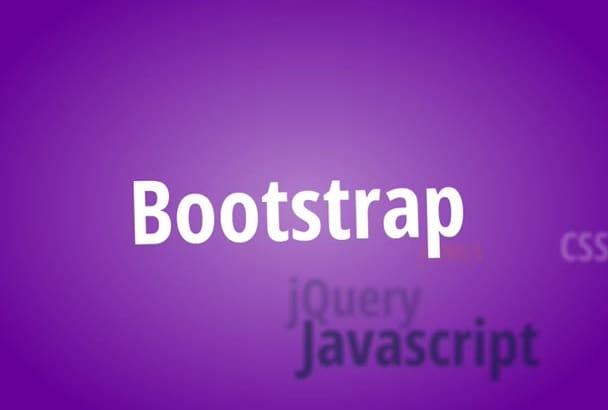 create bootstrap responsive website design