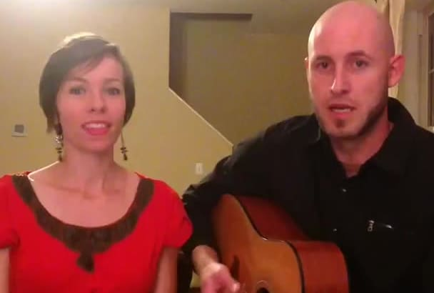 write and sing custom song or jingle as a duo