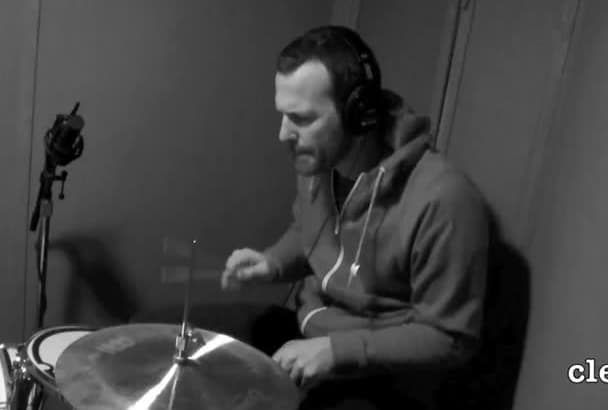 record a retro sounding live drum track for your song